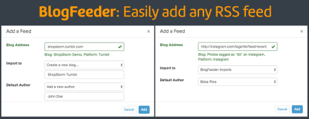 Import any RSS feed into Shopify