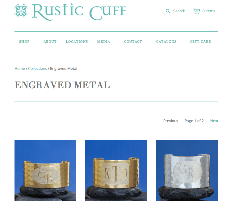 ShopStorm Apps Showcase | Rustic Cuff - Product Customizer