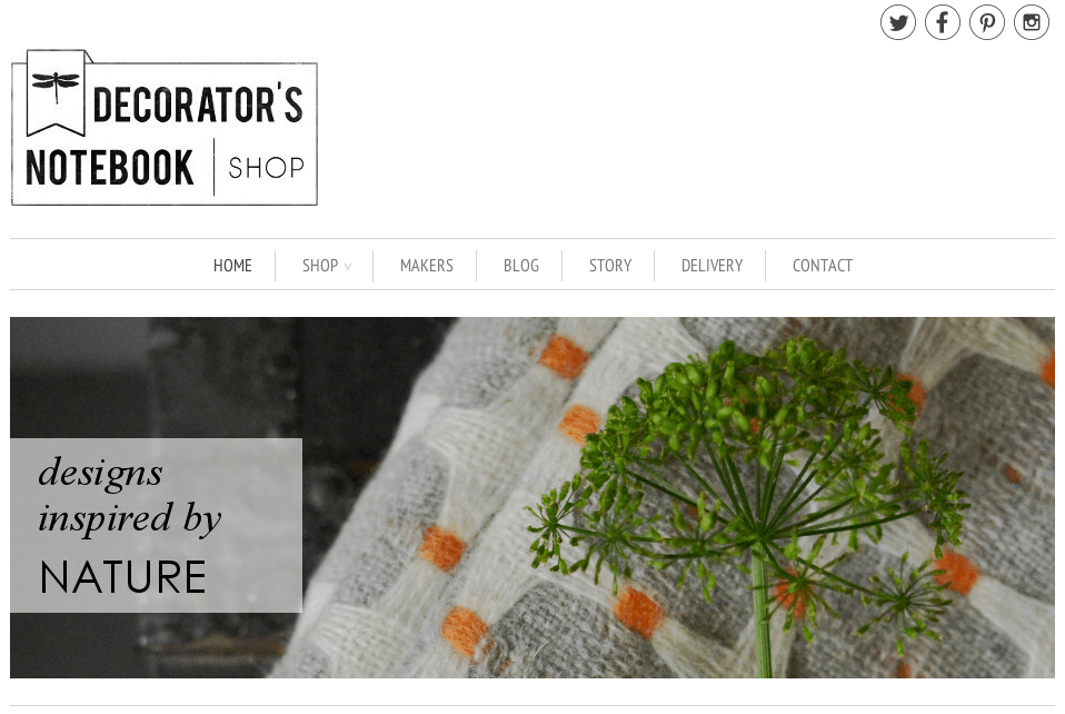 ShopStorm App Showcase | BlogFeeder - Decorators notebook