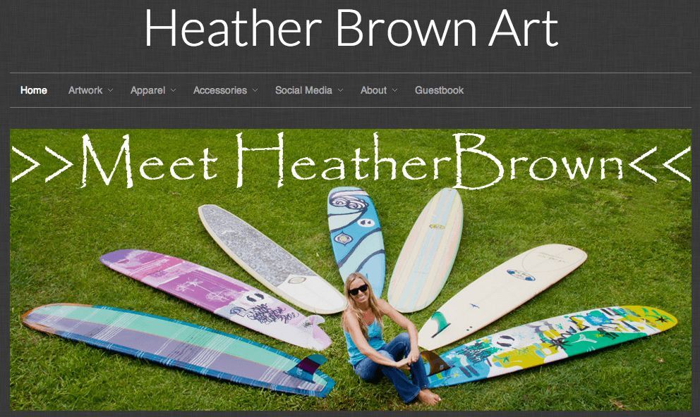 ShopStorm App Showcase | BlogFeeder - Heather Brown Art