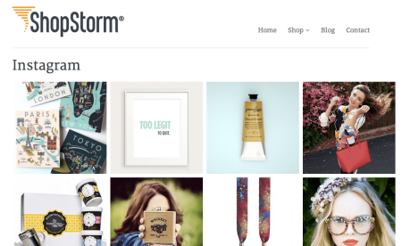 Shopify Displaying Instagram Photos