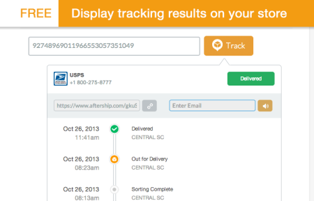 display tracking screenshot for free Shopify apps post