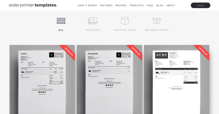 order printer templates store for Shopify