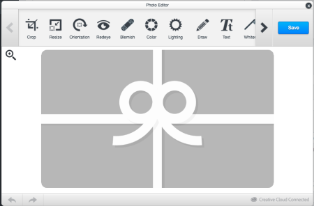 gift cards image editor options