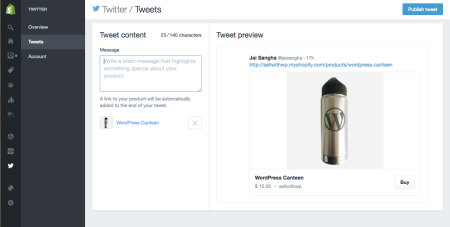 create tweet for social selling
