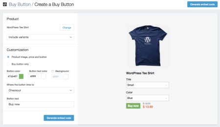add product shopify buy button