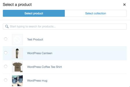 select product shopify plugin