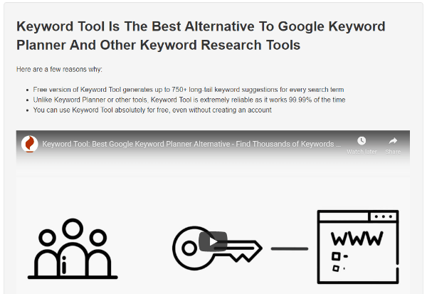 an alternate keyword tool for your online store research