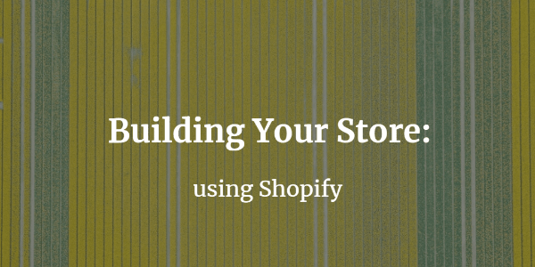 Building your store