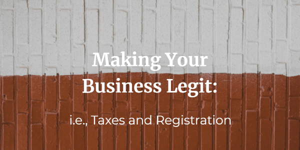 Making your business legit